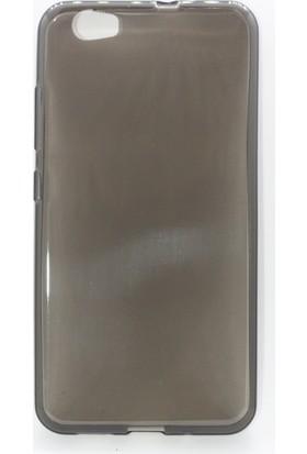 Case 4U Vestel Venüs Z10 Silikon Kılıf Füme / Siyah