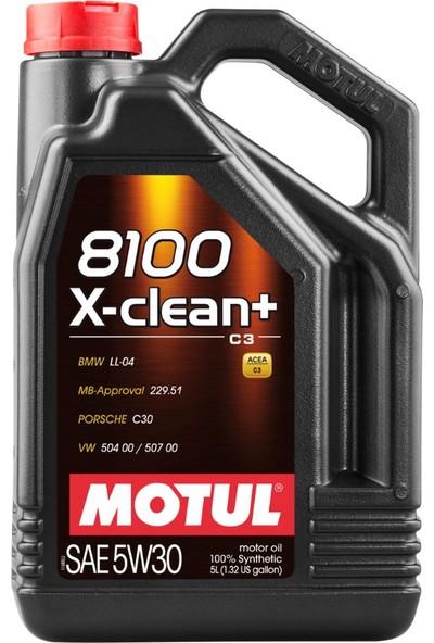 Motul 8100 X-CLEAN+ 5W-30 5 lt ( Üretim Tarihi:2020 )