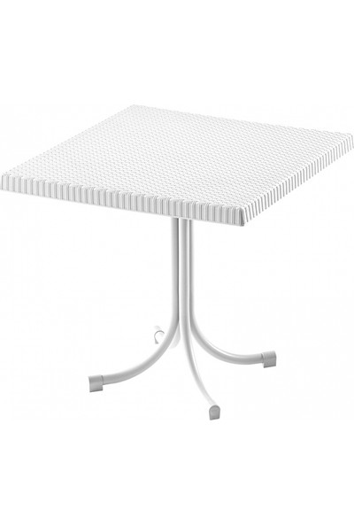 Comfort Katlanabilir Mutfak Balkon Ve Bahçe 80x80 Rattan Masası