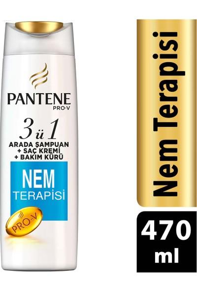 Pantene Nem Terapisi 470 ml 3'ü 1 Arada Şampuan ve Saç Bakım Kremi