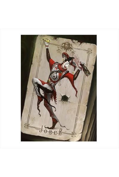 Tablomega Ahşap Tablo Joker Kart
