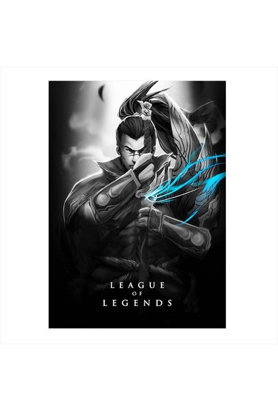 Tablomega Ahşap Tablo League of Legends LOL Yasuo
