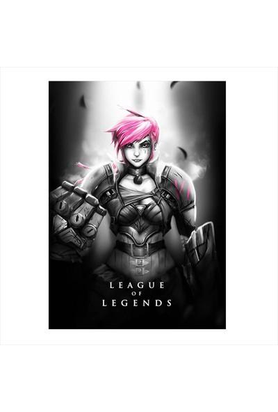 Tablomega Ahşap Tablo Riven League of Legends