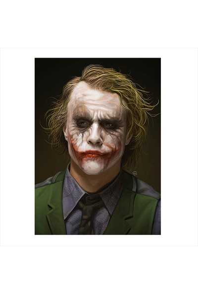 Cakasepetim Ahşap Tablo Joker Heath ledger