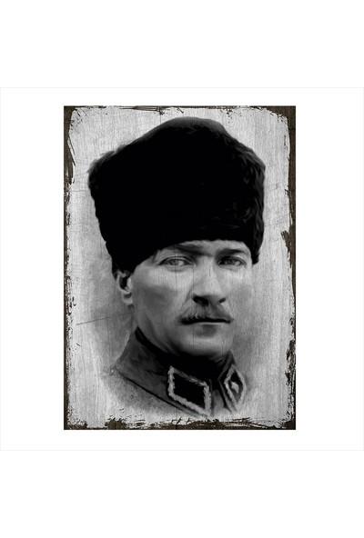 Tablomega Ahşap Tablo Mustafa Kemal Atatürk