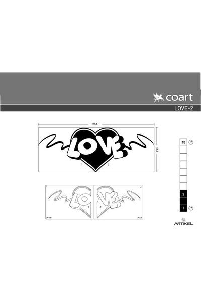 Artikel Love-2 Kadife Duvar Sticker 119,5X45,5