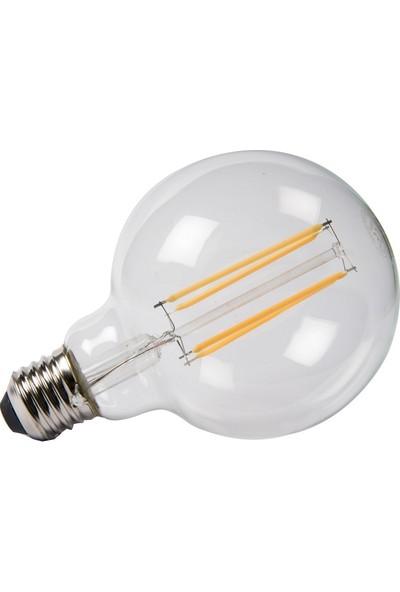 Maxima G95 Edison Led 6W Uzun Filament 2700K Şeffaf Sarı Işık