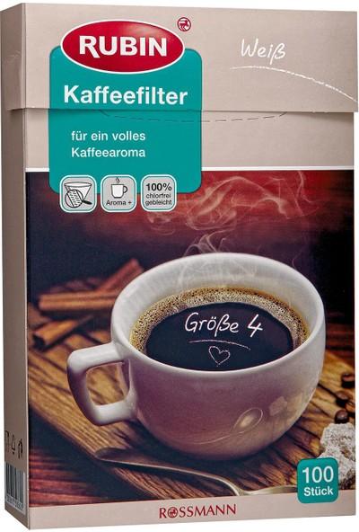 Rubin Büyük Boy Kahve Filtresi (Beyaz)