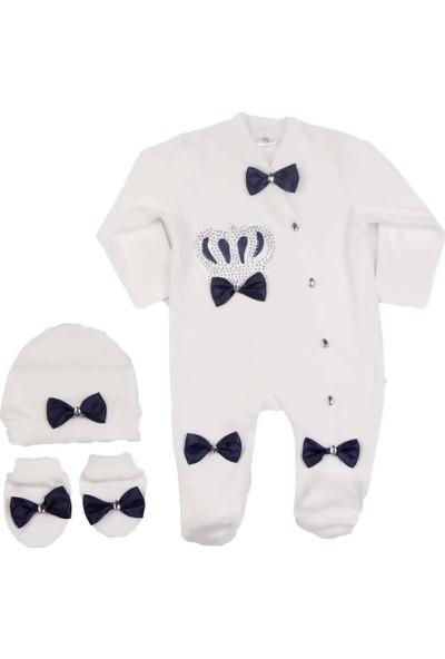 Ponpon Baby Petite Ponpon 3'lü Bebek Tulum Seti