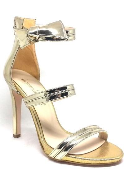 Shop And Shoes 027-18147 Bayan Ayakkabı Altın