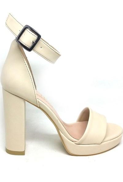 Shop And Shoes 122-601 Bayan Ayakkabı Bej