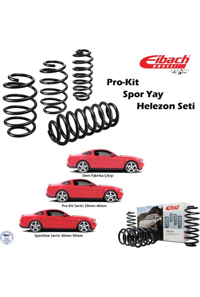 Eibach Ford Focus II Sedan 2005-2010 Spor Yay Helezon Pro-Kit Ön 30, Arka 30 mm