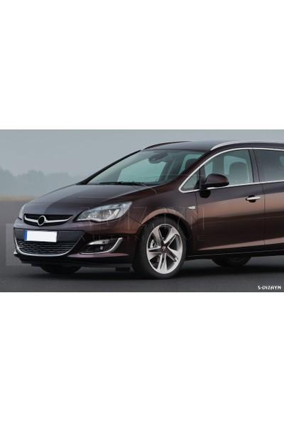 S-Dizayn Opel Astra J Krom Ön Tampon Çıtası 2012 Üzeri