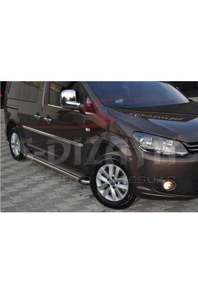 S-Dizayn VW Caddy Krom Yan Kapı Çıtası 4 Prç 2004-2015