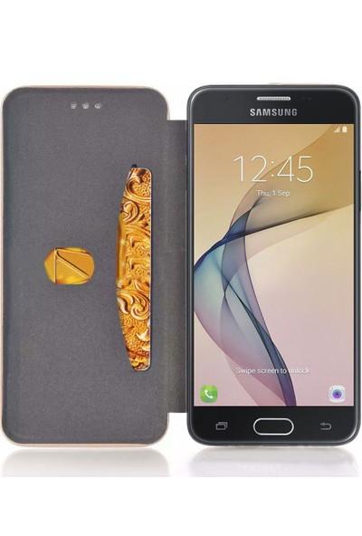 Sonmodashop Samsung Galaxy J7 Prime Standlı Mıknatıs Kapaklı Flip Cover Kılıf