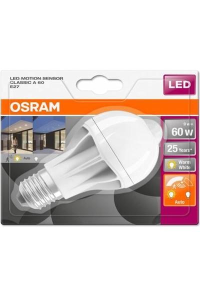 Osram Led Hareket Sensörlü 9W Sarı Işık Ampul