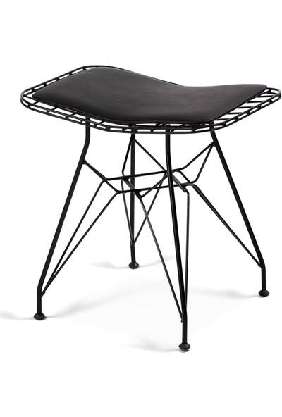 Sandalye Keyfi Siyah Tel Tabure