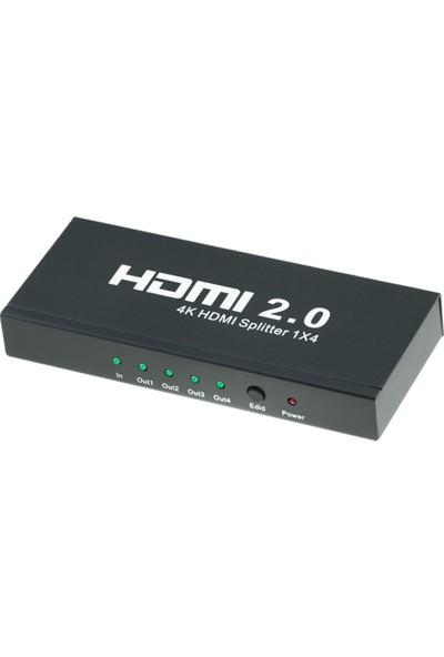HDMI 2.0 4 Port Splitter EDID HDCP 4K Ultra HD Görüntü Çoğaltıcı 4K124