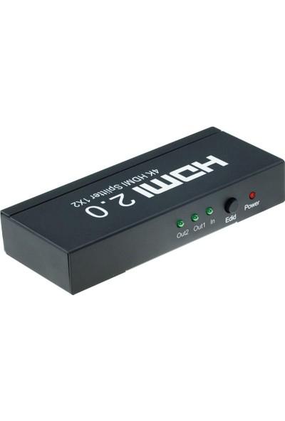 HDMI 2.0 2 Port Splitter EDID HDCP 4K Ultra HD Görüntü Çoğaltıcı 4K122