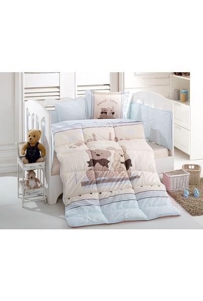 Özdilek Bebek Uyku Seti Bear And Rabbit Mavi