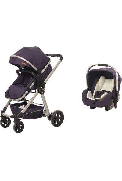 Baby2Go 8033 Power Lüks Travel Sistem Bebek Arabası Mor