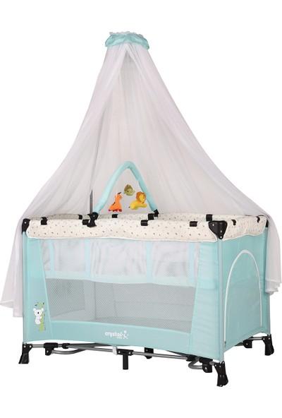 Crystal Baby Astana Cibinlikli Oyun Parkı 70x110 Turkuaz
