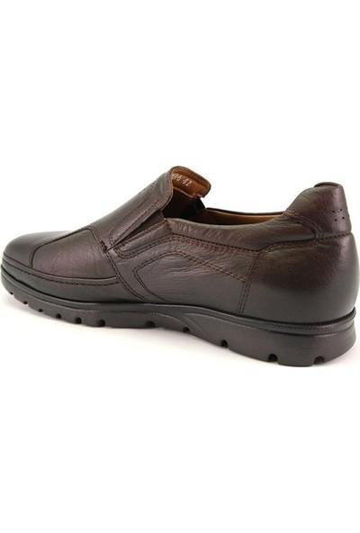 Forelli 32606 Erkek Kahve Deri Comfort Ayakkabı
