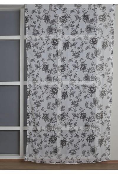 Premier Home Keten Tül Perde Siyah Beyaz 140X270