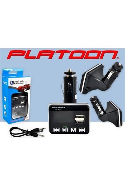 Platoon Pl-9244 Araç Oto Bluetooth Fm Transmitter Çakmak Şarj