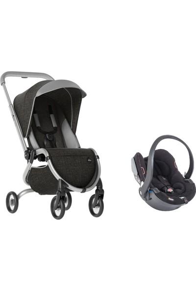 Mima Zigi Lüks Travel Sistem Bebek Arabası Kömür Siyahı - Siyah