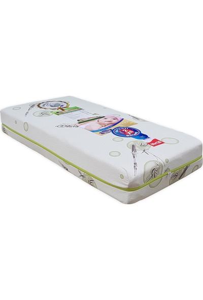Mobpazar Bebek Yatağı 60X120 Cm Ortopedik Bebek Yatakları Yıkanabilir Bamboo Kumaşlı