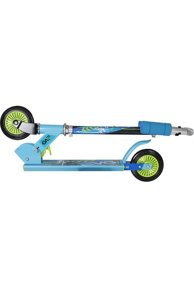 Sunman Evo Neon Renkli Yeni Nesil Frenli Çelik 2 Teker Scooter - Mavi