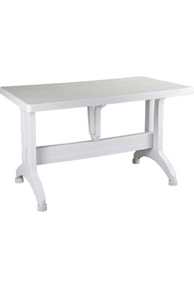Plastico 80X140 Plastik Ayaklı Masa - Beyaz