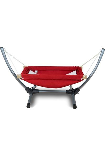 Bliss Metal Standlı Bebek Hamağı - Hamak Beşik Kırmızı