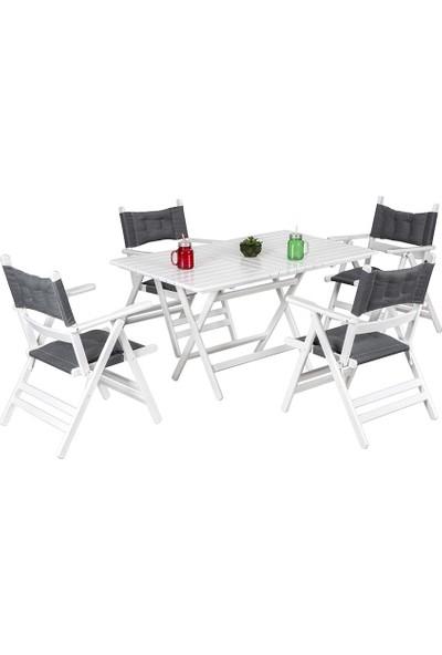 Vitale Ege Beyaz Bahçe Masası Seti