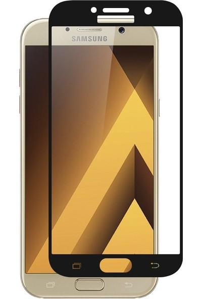Case 4U Samsung Galaxy A3 2017 Tam Kaplayan Ekran Koruyucu - Nano Fiber - Siyah