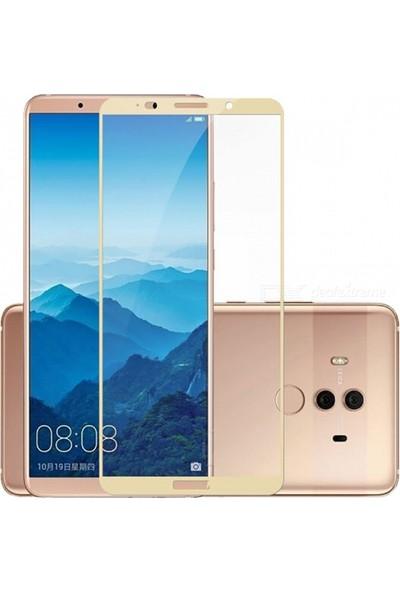 Case 4U Huawei Mate 10 Lite Tam Kaplayan Ekran Koruyucu - Nano Fiber - Altın