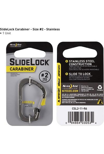 SlideLock Carabiner #2-Çelik Karabina