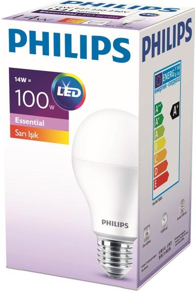 Philips ESS LEDBulb 14-100W E27 Normal Duy Sarı Işık 12'li Ekopaket
