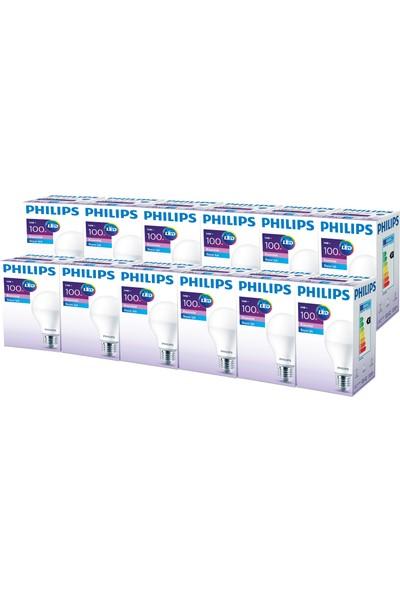 Philips ESS LEDBulb 14-100W E27 Normal Duy Beyaz Işık 12'li Ekopaket