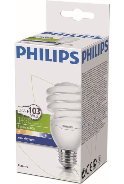 Philips EconomyTwister 23W E27 Normal Duy Beyaz Işık 6'lı Ekopaket