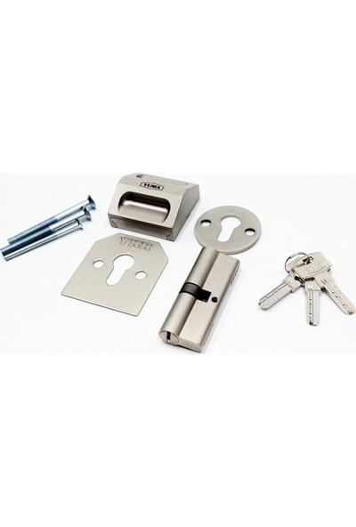 Yuma Kilitli Çelik Rozet Sağ + 1 adet 68 mm Çelik Kapı Barel Set