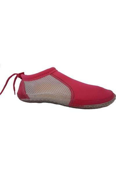 Hobi Store Fuşya - Beyaz Fileli Deniz Ayakkabısı