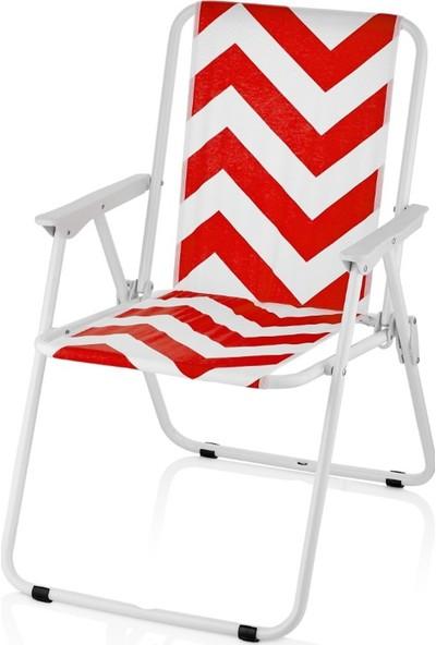 Miras Bahçe Balkon Plaj Katlanabilir Sandalye Pamuklu Kumaş Minder