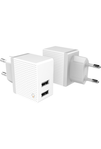 Emie Boo Travel Charger 2 Port Travel Charger - 2.4A - 12W
