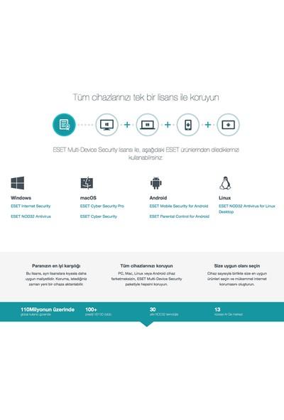 Eset Multi Device Security Pack 2018 / 3 Cihaz 1 Yıl Dijital Lisans