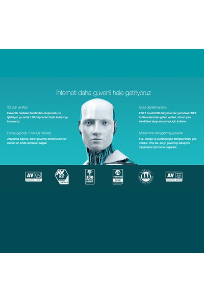 Eset Multi Device Security Pack 2018 / 3 Cihaz 2 Yıl Dijital Lisans