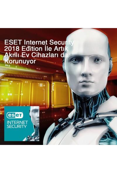 Eset Internet Security 2018 V.11 / 3 Kullanıcı 1 Yıl Dijital Lisans