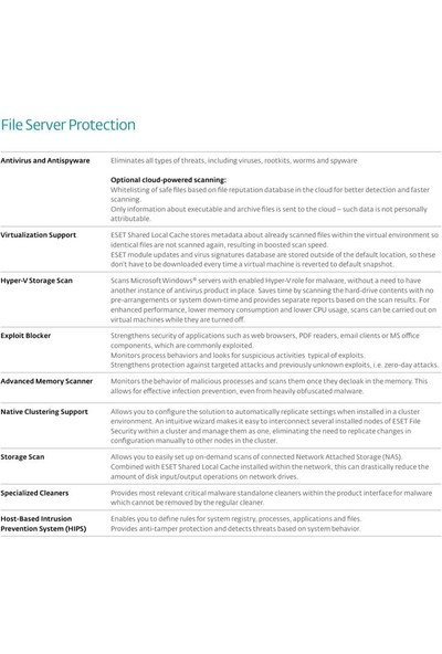 Eset File Security For Microsoftserver 2018 / 1 Kullanıcı 2 Yıl Dijital Lisans