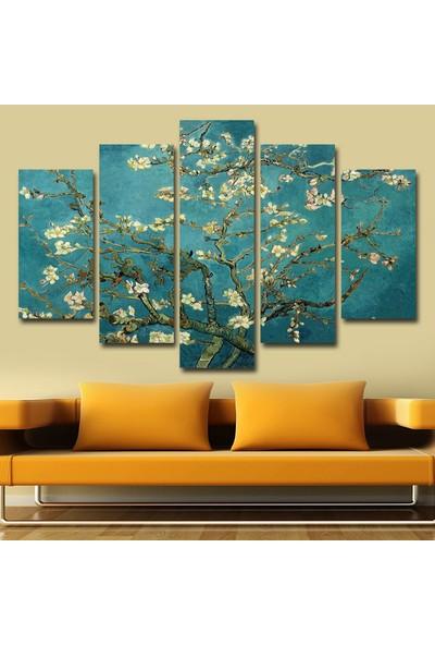 Dekorme Çiçek Açan Badem Ağacı Kanvas Tablo 110 x 60 cm